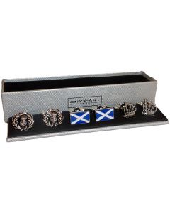 Set of 3 Scottish Cufflinks by Onyx Art
