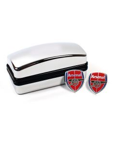 Arsenal FC Crest Cufflinks - Official With Hologram