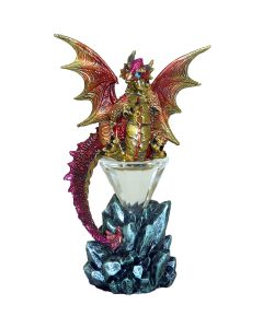 Baby Dragon Sitting on an Illuminated Crystal Pyramid - Juliana Mystic Legends