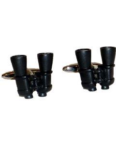 Binocular Cufflinks by Dalaco - Gift Boxed - High Quality - Bird Watcher Game