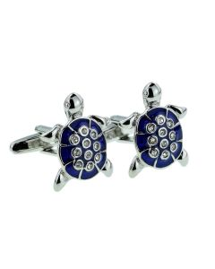 Blue Sea Turtle Cufflinks - Gift Boxed