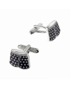 Boxer Shorts Cufflinks - Onyx Art - Gift Boxed - Fun Present Trunks Boxers Pants