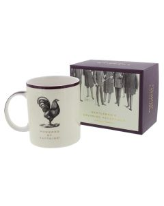 Powered by Caffeine China Mug - Emporium Collection - Gift Gentleman Man Dad