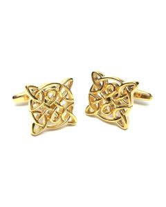 Celtic Design Gold Plated Cufflinks - Gift Boxed