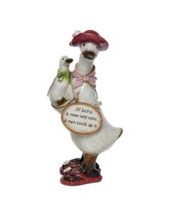 Mums Message Duck B - If being a Mum was easy a man could do it - Ornament Gift