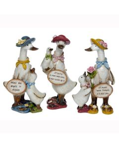 Complete Set of Mums Message Ducks - Davids - Mum Mother Grandma Ornaments Gift