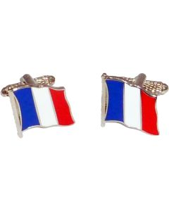 French Flag Cufflinks by Onyx Art - Gift Boxed