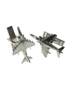 Harrier Cufflinks - Gift Boxed - Pewter AV8B GR7 GR9 Fighter Pilot Cuff Links