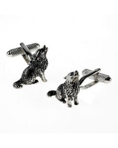 Howling Wolf Cufflinks by Onyx Art - Gift Boxed - Wolves Pack Werewolf