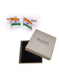 Indian Flag Cufflinks by Onyx Art