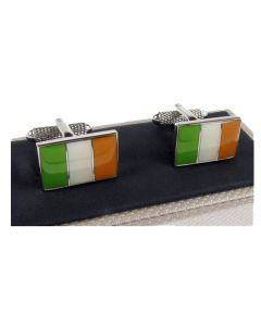 Ireland Flag Cufflinks by Onyx Art - Gift Boxed  Irish Tricolour Eire Cuff Links