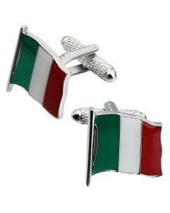 Italian Flag Cufflinks by Onyx Art