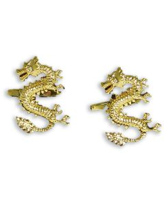 Lucky Chinese Dragon Cufflinks - Gift Boxed - Gold