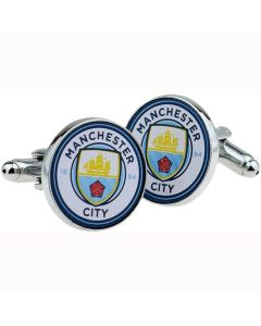 Manchester City FC Crest Cufflinks - Official With Hologram - Football Club
