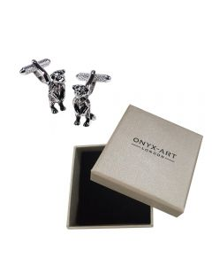 Meerkat Cufflinks by Onyx Art - English Pewter