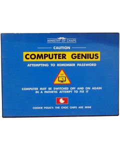 Computer Genius Metal Sign - Ministry of Chaps by Harvey Makin - Funny Plaque