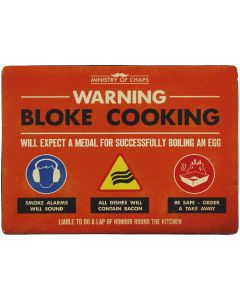 Bloke Cooking Zone Metal Sign - Ministry of Chaps by Harvey Makin
