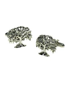 Oak Tree Cufflinks by Onyx Art - Gift Boxed