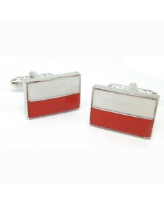 Polish Flag Cufflinks by Onyx Art - Gift Boxed