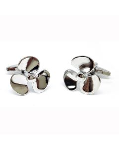 Ships Propeller Cufflinks - Gift Boxed -  Ship's Sailor Nautical Propellor Boat