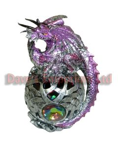 Purple Dragon Sitting on an Illuminated Ball - Juliana Mystic Legends