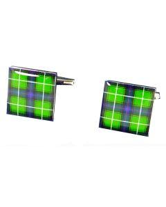 Clan MacDonald Tartan Green Cufflinks - Gift Boxed - Scottish Scots Cuff Links