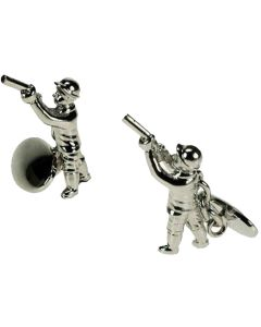 Man Shooting Cufflinks - Onyx Art - Gift Boxed - Chain Link Hunting Country Game