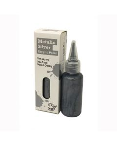 Timberkits Metalic Silver Acrylic Paint - The Perfect Accessory for Your Model