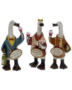 Complete Set of Davids Wineloving Message Ducks