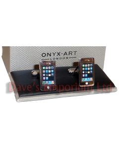 Smartphone Cufflinks by Onyx Art - Gift Boxed - iPhone Mobile Unisex Cuff Links
