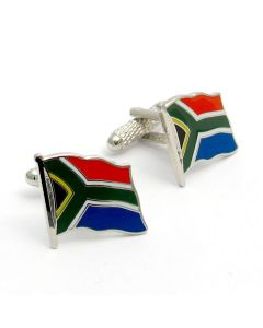 South African Flag Cufflinks by Onyx Art - Gift Boxed