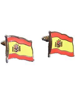 Spanish Flag Cufflinks by Onyx Art - Gift Boxed
