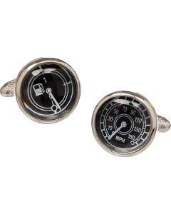 Car Speedometer & Temperature Gauge Cufflinks - Onyx Art Gift Boxed Motor Sport