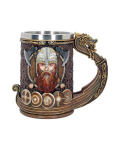 Viking Dragon Boat Tankard - 15cm - Gift Boxed - Stein Long Norse Nordic Drakkar
