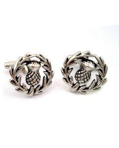 Scottish Thistle Cufflinks by Onyx Art