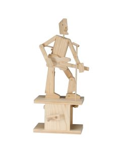 Timberkits Guitarist - Wooden Moving Model Self Assembly Construction Gift