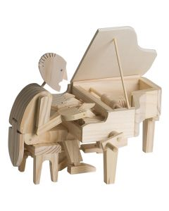 Timberkits Pianist - Wooden Moving Model Self Assembly