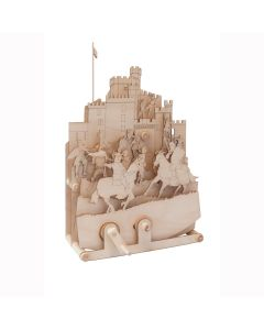 Timberkits Medieval Mayhem - Wooden Moving Model Natural Wood Construction Gift