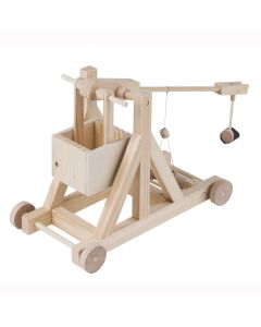 Timberkits Trebuchet Kit - Wooden Moving Model Self Assembly Construction Gift