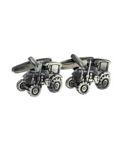 Tractor Cufflinks Detailed Gunmetal - Gift Boxed