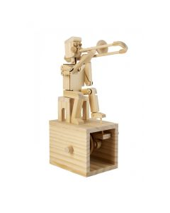 Timberkits Trombone Player Kit - Wooden Moving Model Self Assembly Construction Gift
