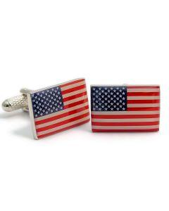 USA Flag Cufflinks by Onyx Art - Gift Boxed