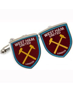 West Ham Crest Cufflinks - Official With Hologram - Hammers Football Club