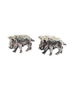 Wild Boar Cufflinks by Onyx Art - Gift Boxed