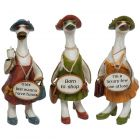 Complete Set of Glam Girls Message Ducks Small - Davids - Ladies Ornaments Gift