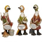Complete Set Mrs Mop Message Ducks - Davids - Kitchen Cleaner - Ornaments Gift