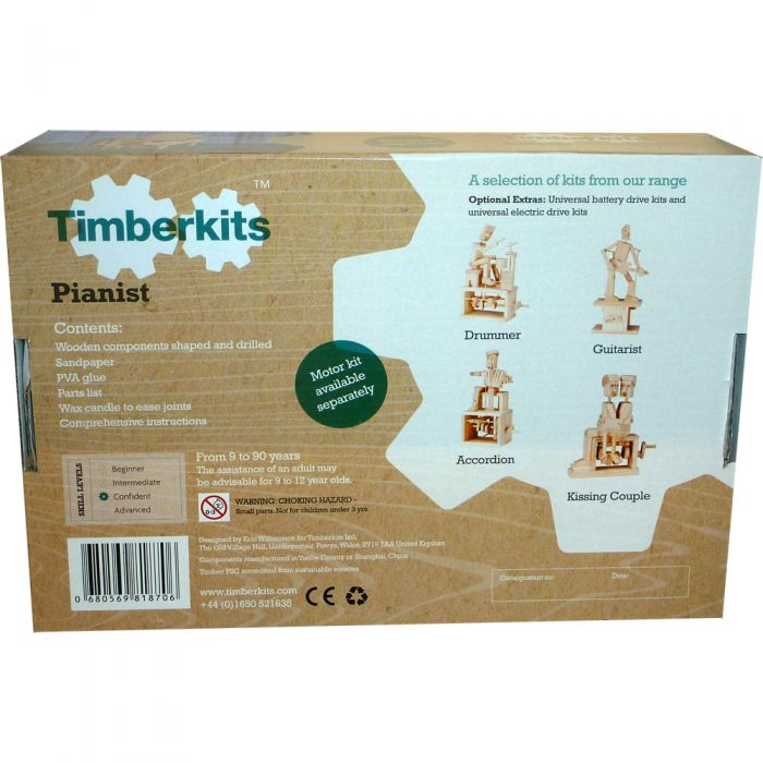 Timberkits Pianist - Wooden Moving Model